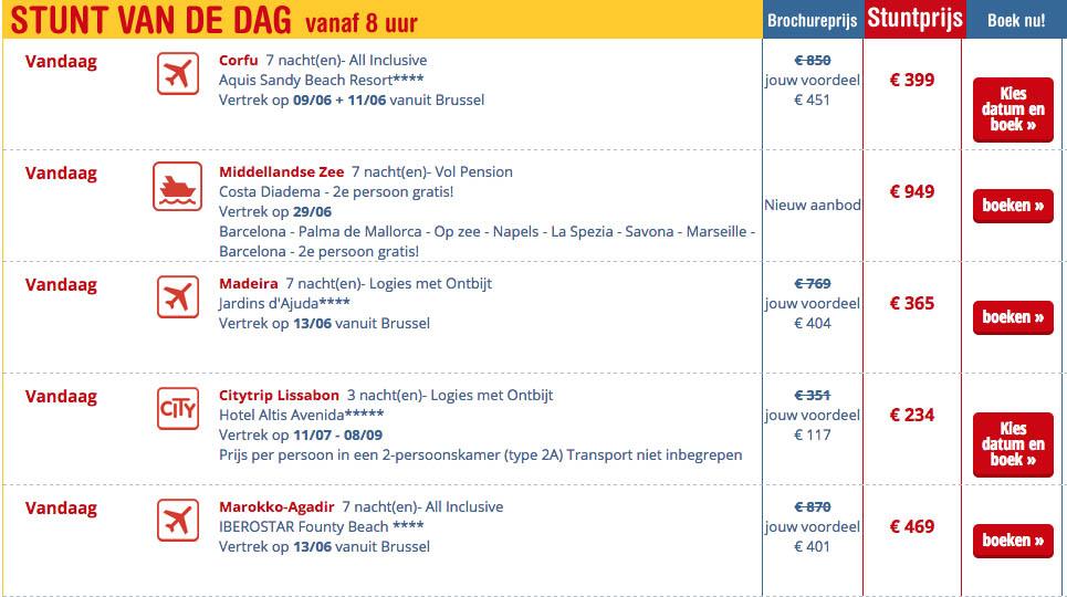 stunt van de dag neckermann reizen belgie2