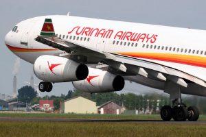 Airbus A340 van Surinam Airways SLM1