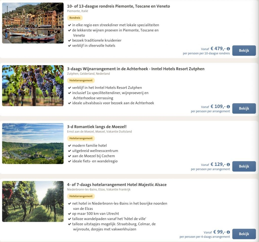 Goedkope wijnreizen in Europa7