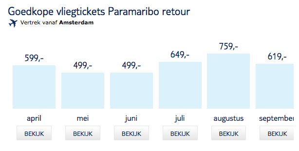 Goedkope TuiFly tickets naar Paramaribo Suriname11