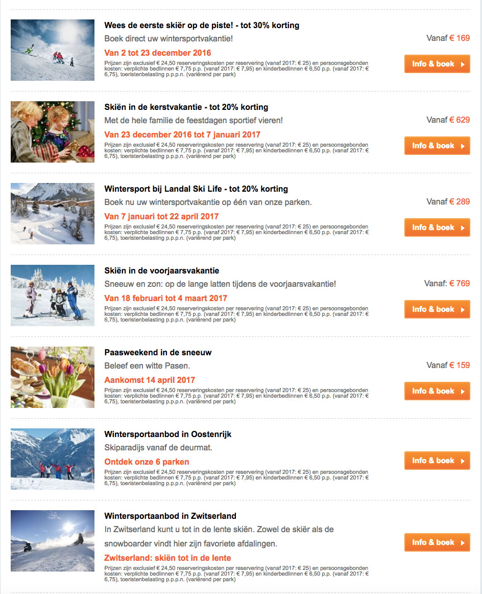 Op wintersport met Landal Skilife2