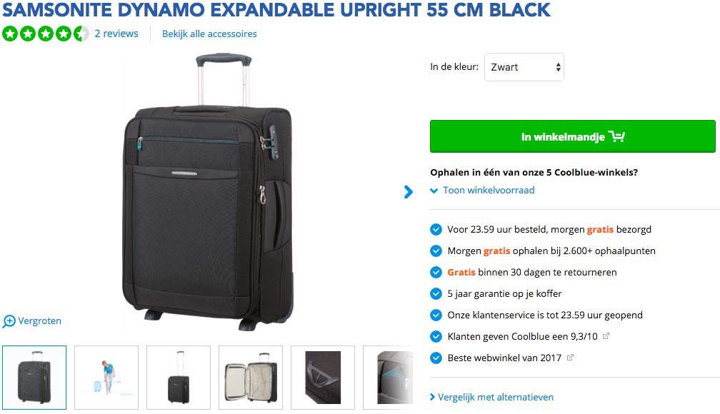 klm koffer handbagage