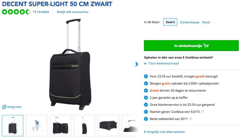 Toegestane handbagage koffers en trolleys bij Vueling1