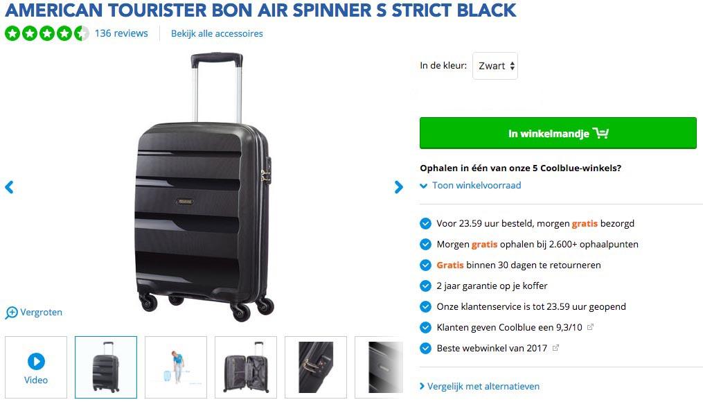 Toegestane handbagage koffers en trolleys bij Vueling3