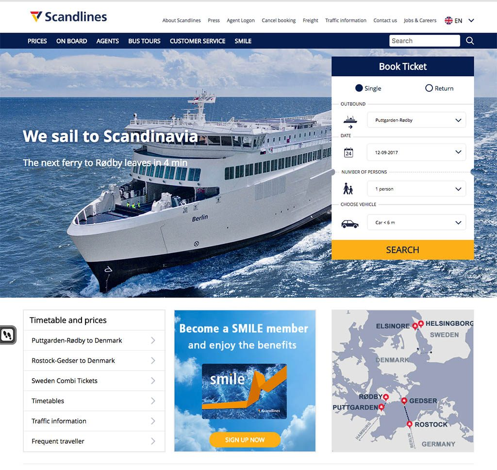 Ervaring Scandlines ferry Puttgarden Duitsland en Rodby Denemarken18