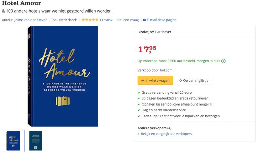 Hotel Amour Joline van den Oever bestellen