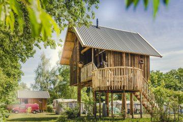 Glamping in een boomhut op vakantiepark Molke in Twente 1