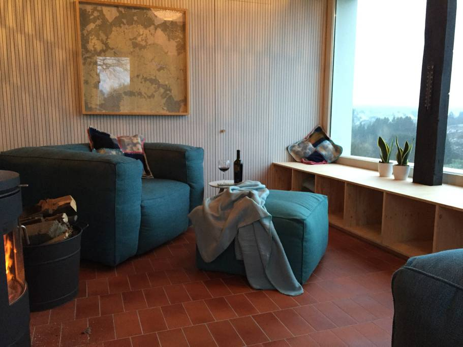Overnachten huisje met houtkachel en uitzicht Ardennen10