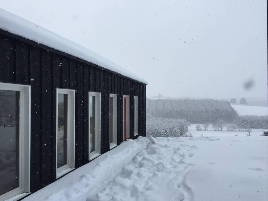 Overnachten huisje met houtkachel en uitzicht Ardennen28
