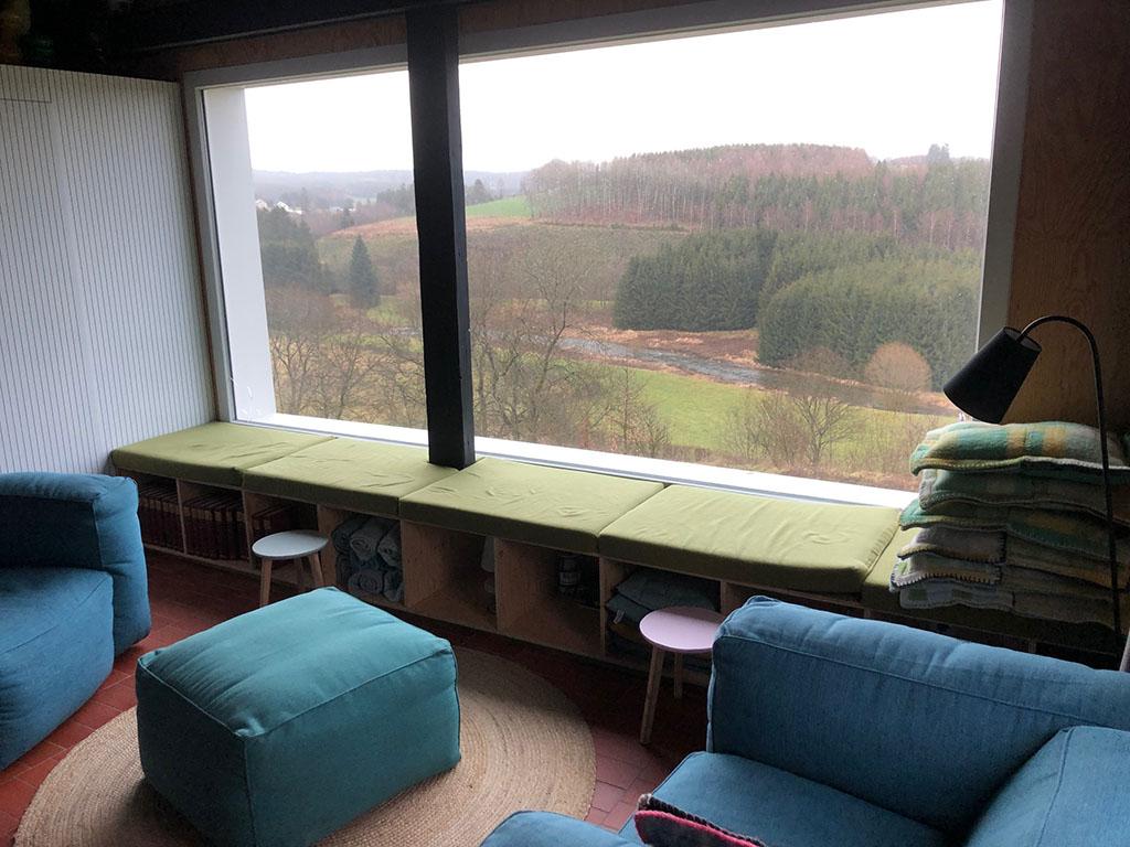 Overnachten huisje met houtkachel en uitzicht Ardennen34