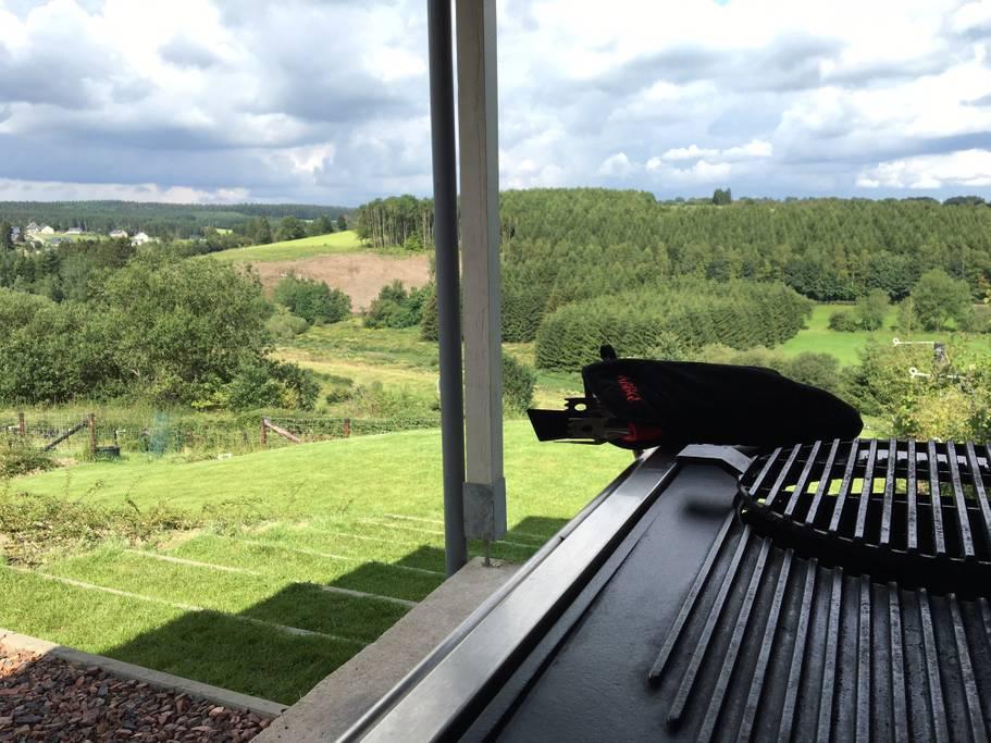 Overnachten huisje met houtkachel en uitzicht Ardennen5