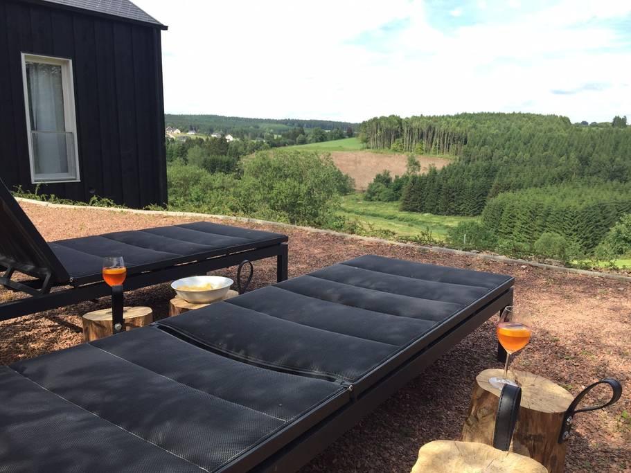 Overnachten huisje met houtkachel en uitzicht Ardennen7