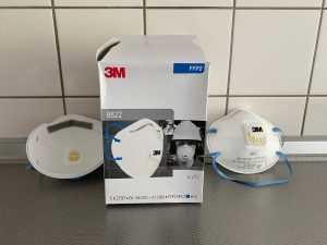 3M 8822 FFP2 Mondkapjes met ventiel en filter 1