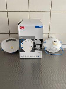 3M 8822 FFP2 Mondkapjes met ventiel en filter 2