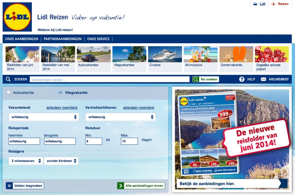 Lidl Reizen En Vakanties Travelersmagazinenl
