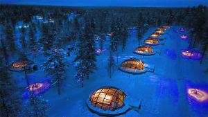 Slapen in een glas Iglo in Finland1