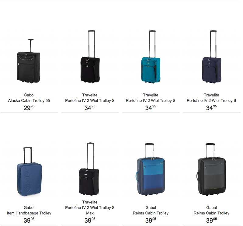 bc93d2d4300 Travelbags handbagage koffer kopen voor in cabine € 39