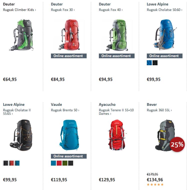 goedkope rugzak of backpack kopen